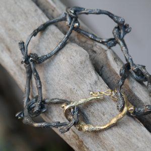 armbånd, guld, sølv