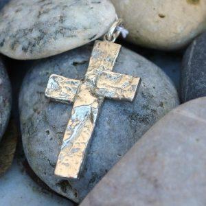 vedhæng, kors, sølv, guld, hvidguld