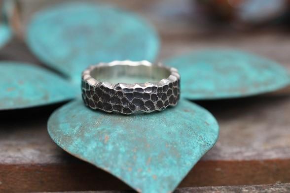 guld, sølv, ring, granit