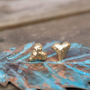 ørering, sølvforgyldt, ørestikker