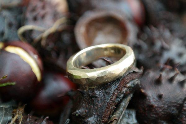 guld, sølv, ring, oliver