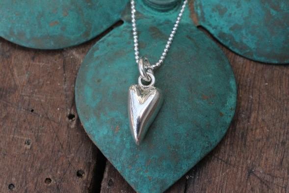 vedhæng, sølv, guld, hvidguld, hjertevedhæng
