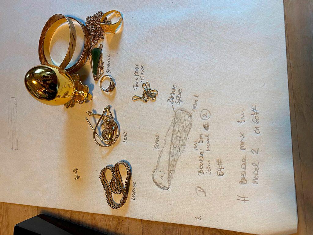 Kærlighedsringene - gammelt guld